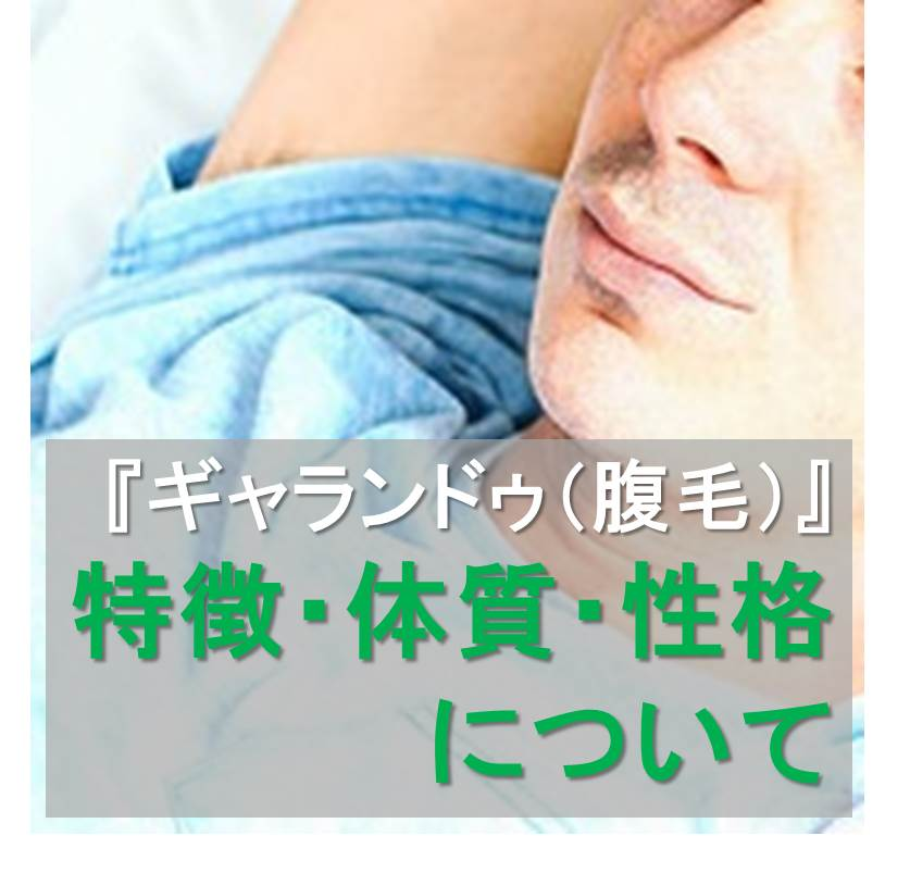 ギャランドゥ(腹毛)の特徴・体質・性格について