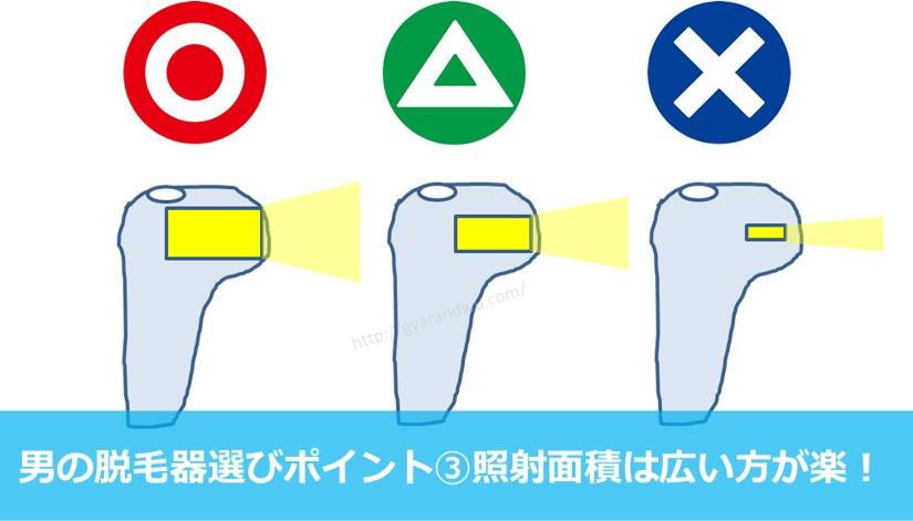 脱毛器選び方照射面積